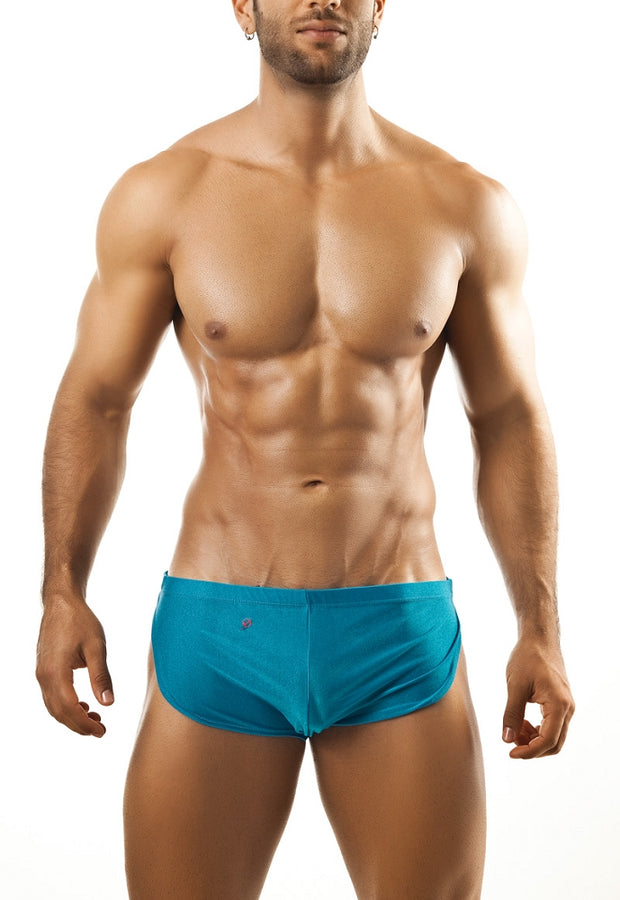 Joe Snyder Running Short - Turquoise-shorts-Johnny Beach
