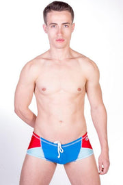 Dietz - Ibiza Swimwear - Blue/Red Johnny Beach