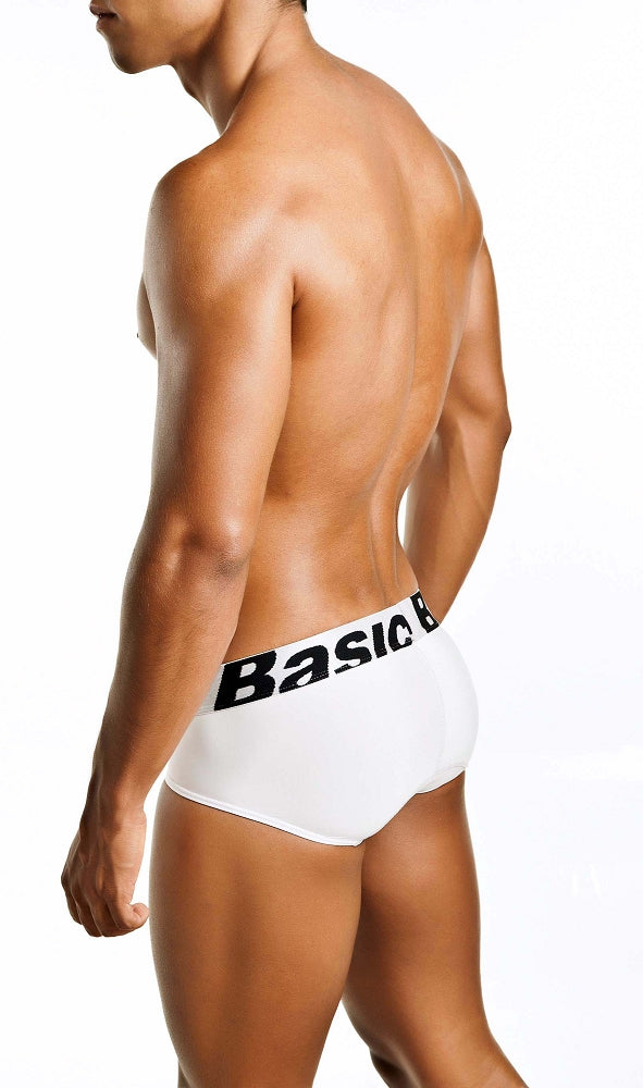 MaleBasics - Microfiber Brief - White, Underwear, Male Basics - Johnny Beach