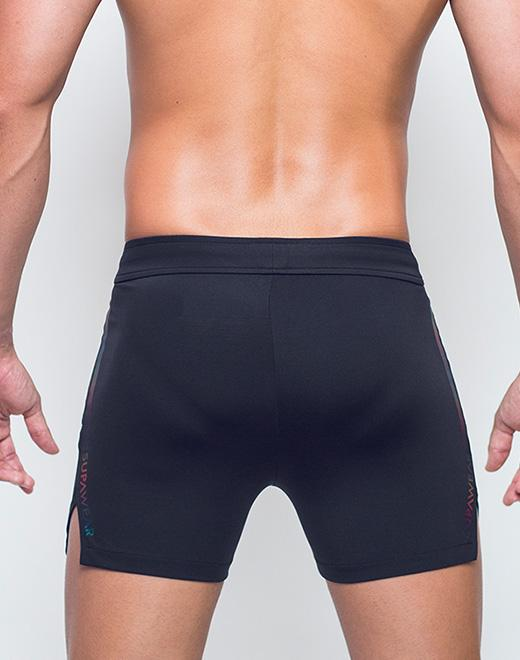 Supawear Spectrum Running Shorts - Black-shorts-Johnny Beach