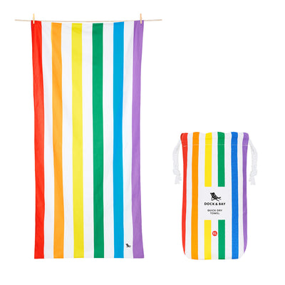 Dock & Bay - XL Cabana Towel - Rainbow Skies-towels-Johnny Beach