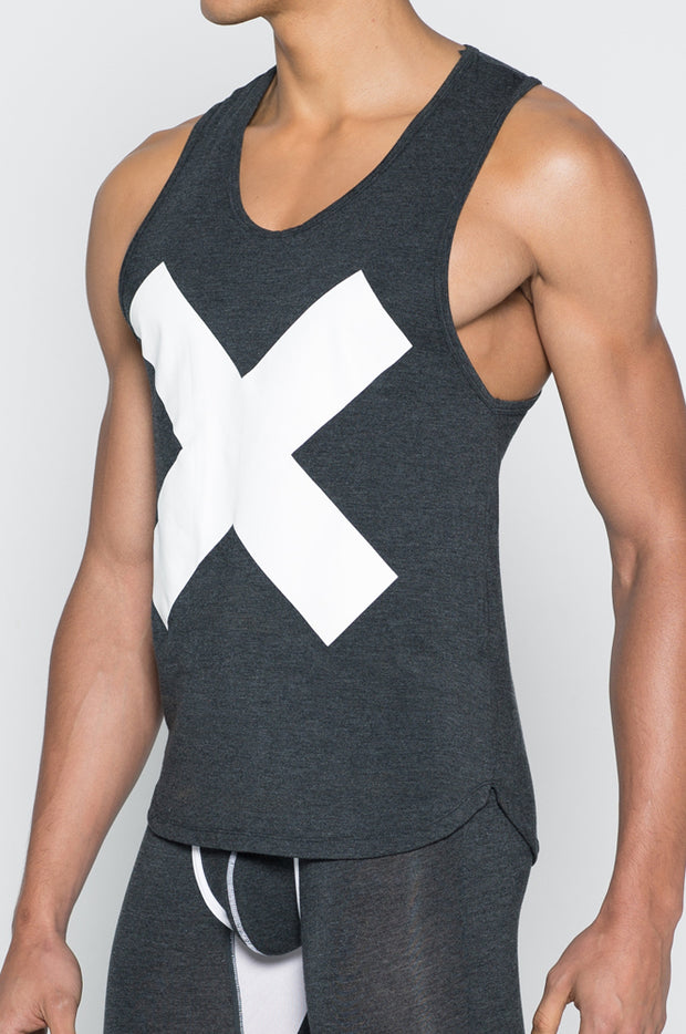 2EROS - X Series Tank - Black Marle-shirt-Johnny Beach