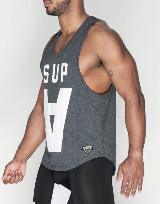 Supawear - Crimson Singlet - Black Marle, Tank Tops, Supawear - Johnny Beach