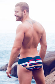 2eros V10 Print Swimwear Briefs Horizon