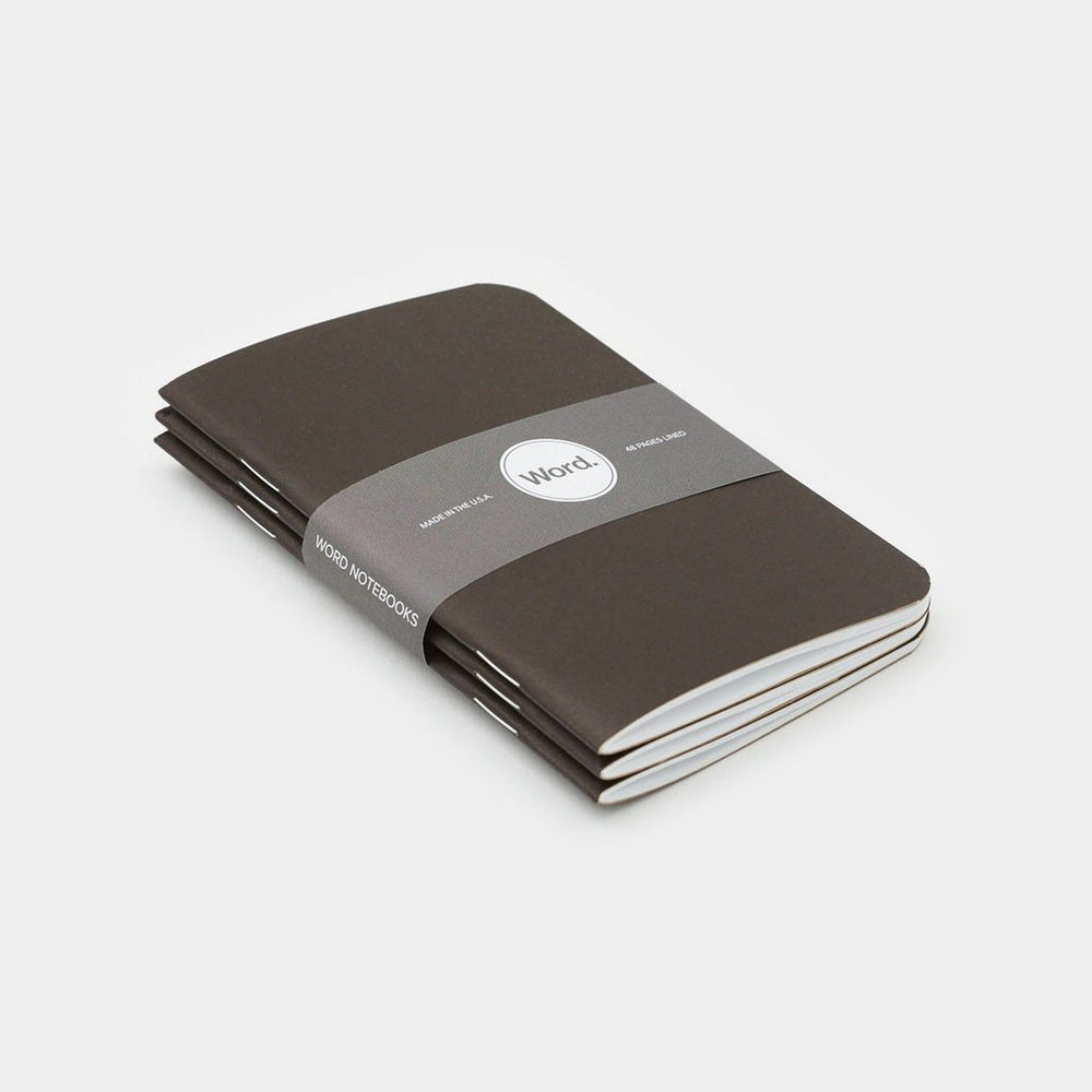 Word. Notebooks - Black, notebook, Word. - Johnny Beach