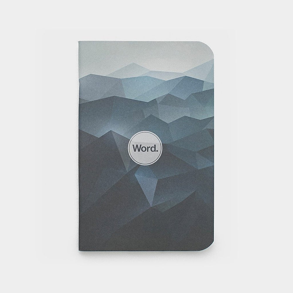 Word. Notebooks - Blue Mountain, notebook, Word. - Johnny Beach