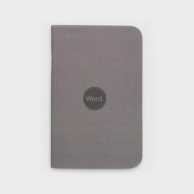 Word. Notebooks - Charcoal-notebook-Johnny Beach