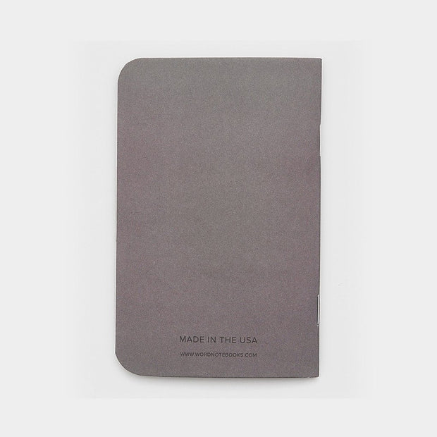 Word. Notebooks - Charcoal Johnny Beach
