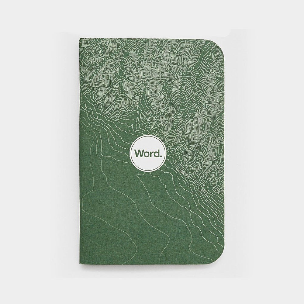 Word. Notebooks - Green Terrain, notebook, Word. - Johnny Beach