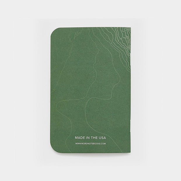 Word. Notebooks - Green Terrain-notebook-Johnny Beach