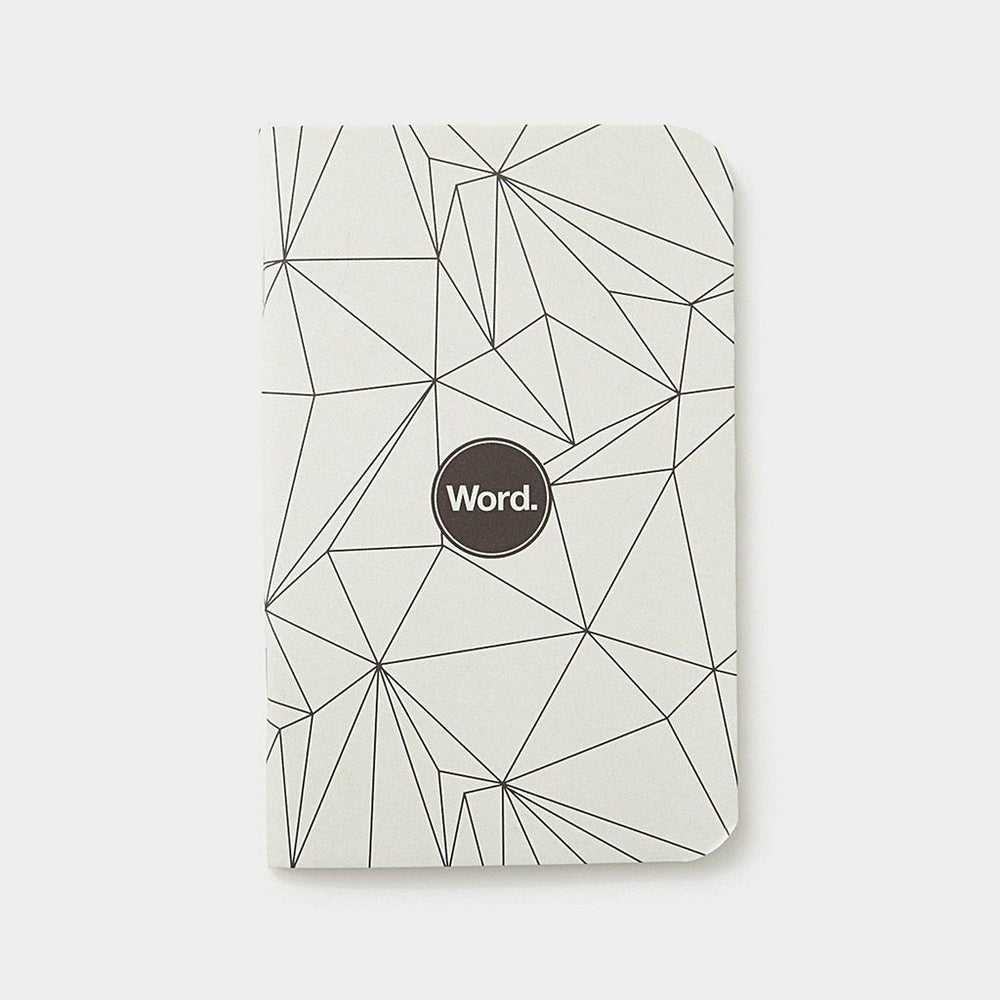 Word. Notebooks - Grey Polygon