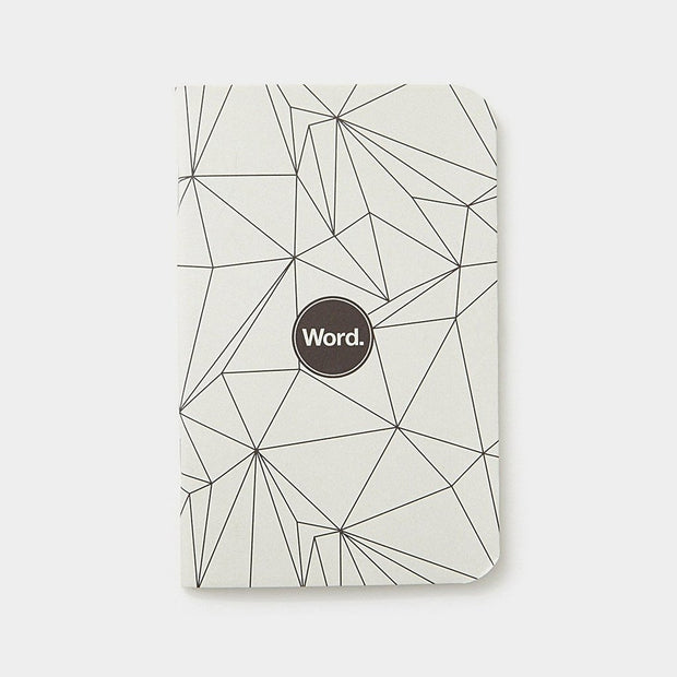 Word. Notebooks - Grey Polygon Johnny Beach