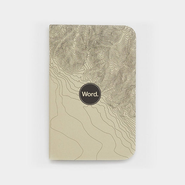 Word. Notebooks - Ivory Terrain-notebook-Johnny Beach