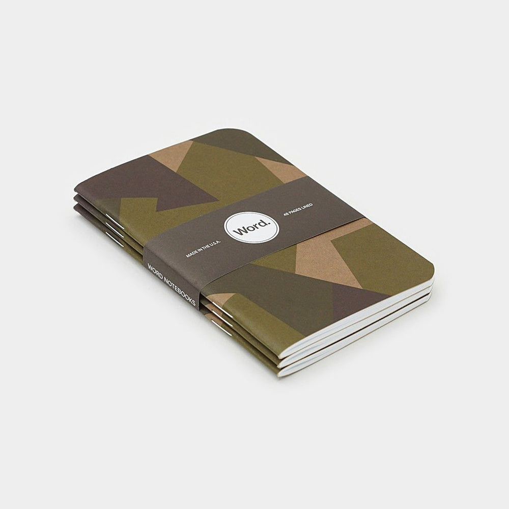 Word. Notebooks - Swedish Camo, notebook, Word. - Johnny Beach