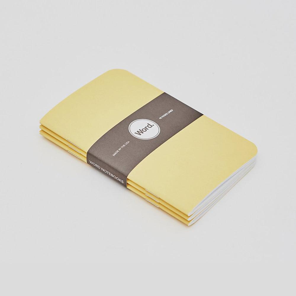 Word. Notebooks - Yellow, notebook, Word. - Johnny Beach