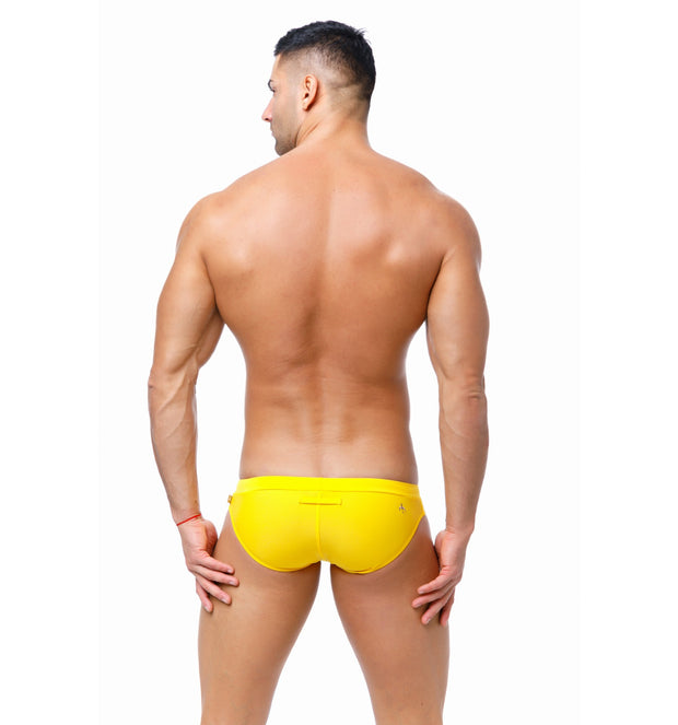 Marcuse - Burleigh Swim Brief - Yellow-Swimwear-Johnny Beach