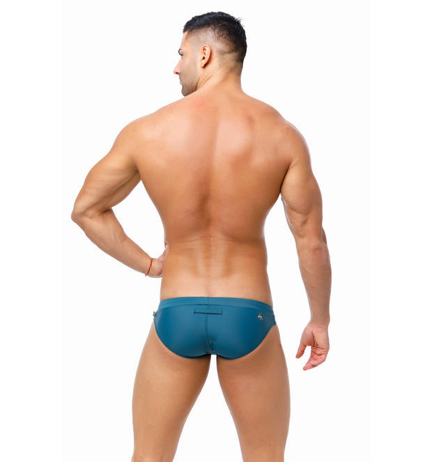 Marcuse - Burleigh Swim Brief - Charcoal-Swimwear-Johnny Beach