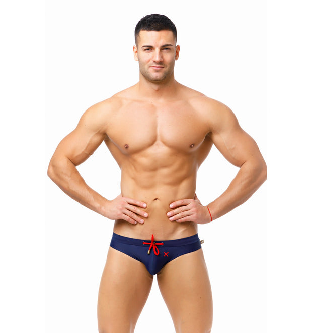 Marcuse - Burleigh Swim Brief - Navy-Swimwear-Johnny Beach