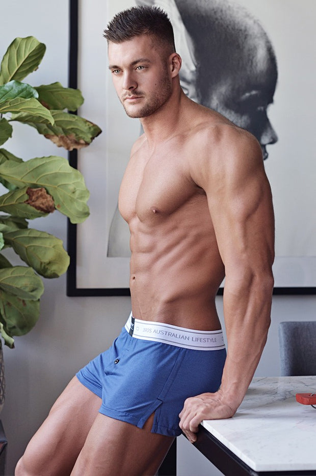 2EROS - Core Boxer Shorts - Navy Marle-Underwear-Johnny Beach