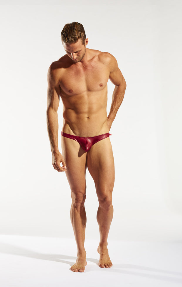 Cocksox - Gala Swim Brief - Platinum Red-Swimwear-Johnny Beach