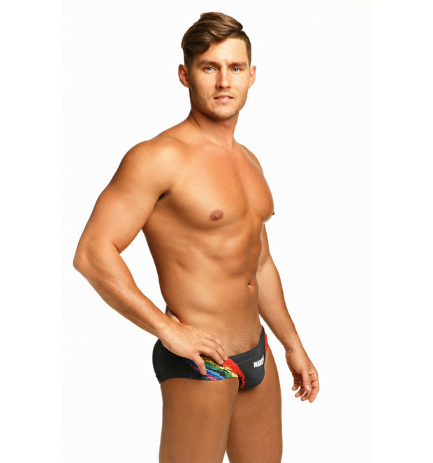 Marcuse - Celebrate Swim Brief - Charcoal-Swimwear-Johnny Beach