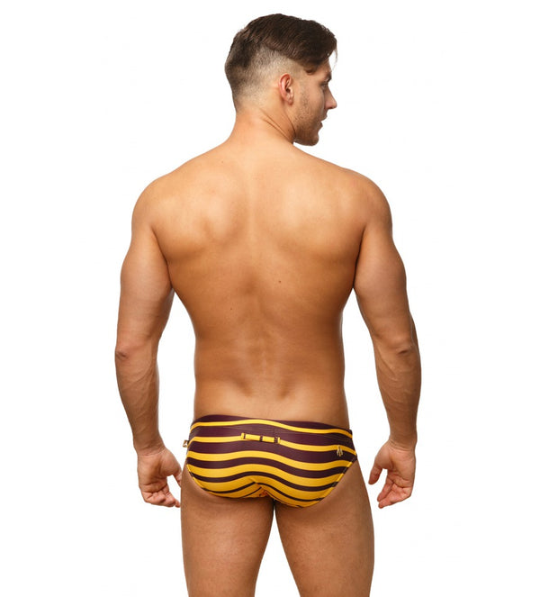 Marcuse - Cruise Swim Brief - Burgundy Johnny Beach
