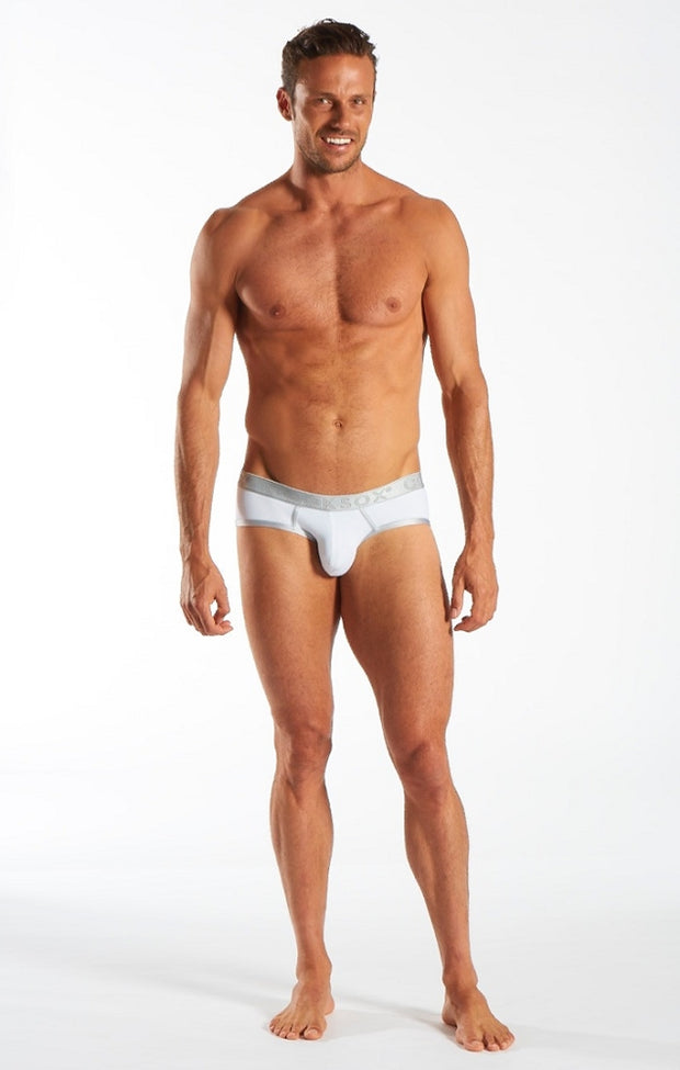Cocksox - Sports Brief - Silver Shimmer-Underwear-Johnny Beach