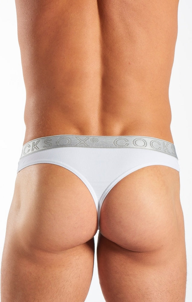 Cocksox - Sports Thong - Silver Shimmer, Underwear, Cocksox - Johnny Beach