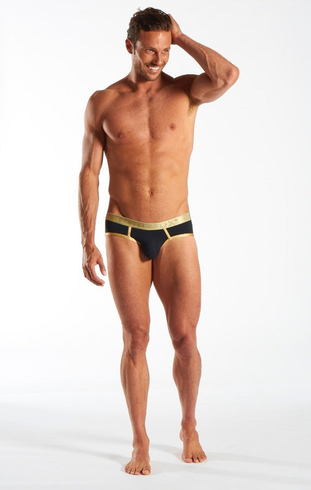 Cocksox - Sports Brief - Gold Shimmer-Underwear-Johnny Beach
