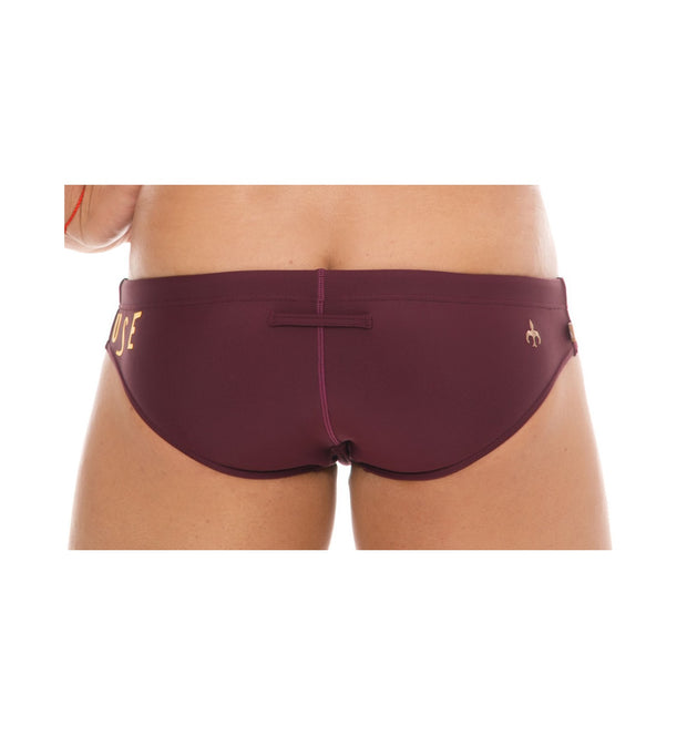 Marcuse - Envy Swim Brief - Burgundy Johnny Beach