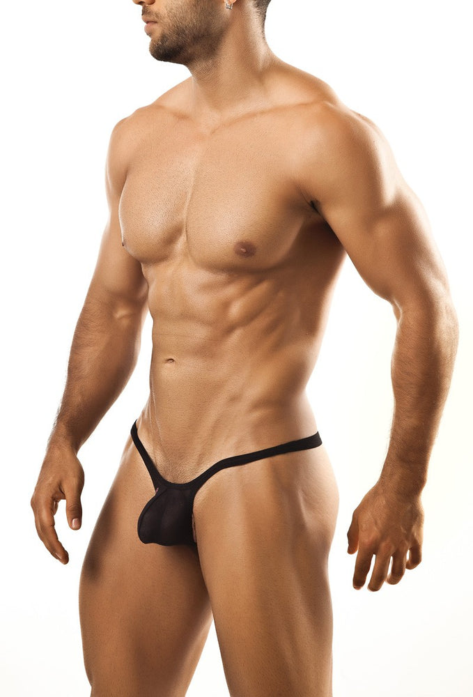 Joe Snyder - Bulge Thong - Black Mesh