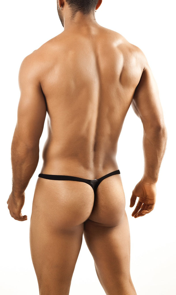 Joe Snyder - Bulge Thong - Black Mesh Johnny Beach
