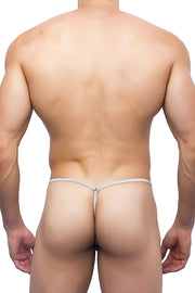 Joe Snyder - G-String Sock It - White-Underwear-Johnny Beach