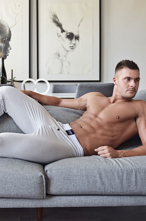 2EROS - Core Lounge Pants - Ivory Johnny Beach