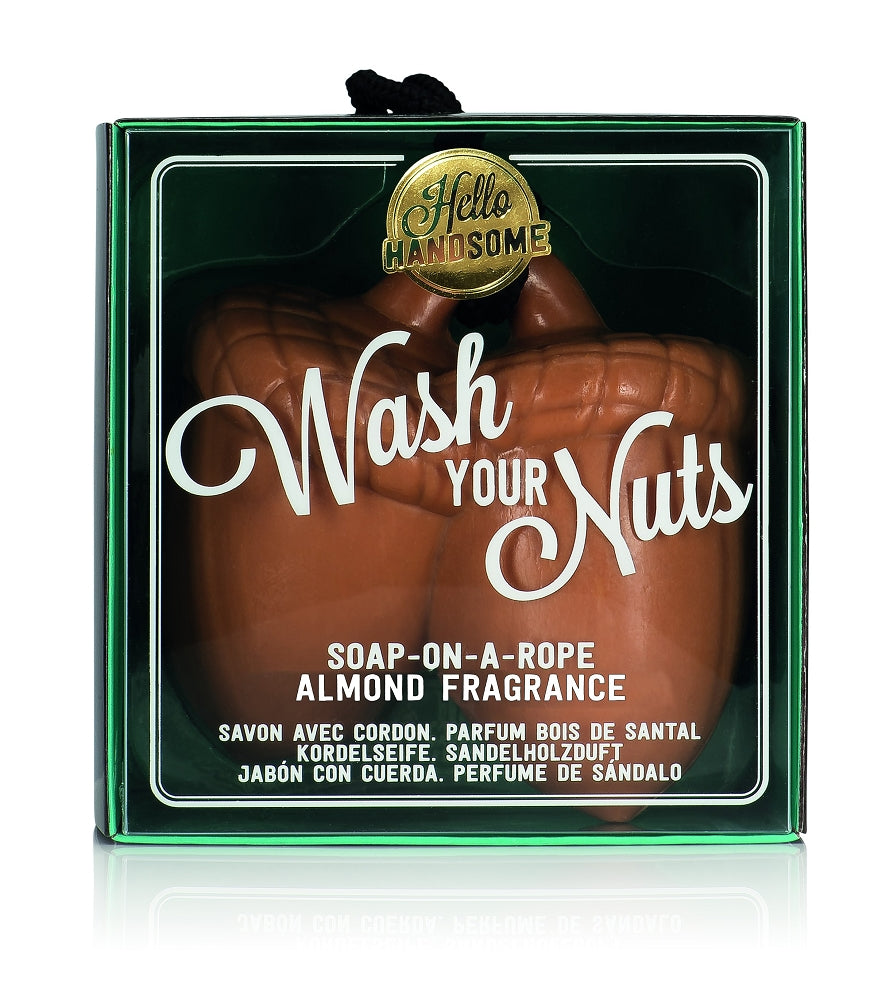 NPW - Hello Handsome Wash Your Nuts Soap On A Roap