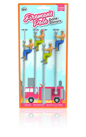 NPW - Fireman Buddies - Drink Stirrers, drinkware, NPW - Johnny Beach