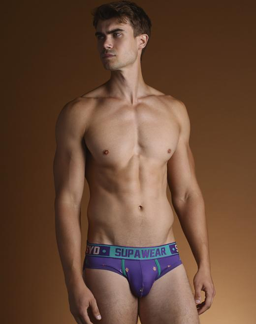 Supawear - Sprint Brief Underwear - Prickly Purple