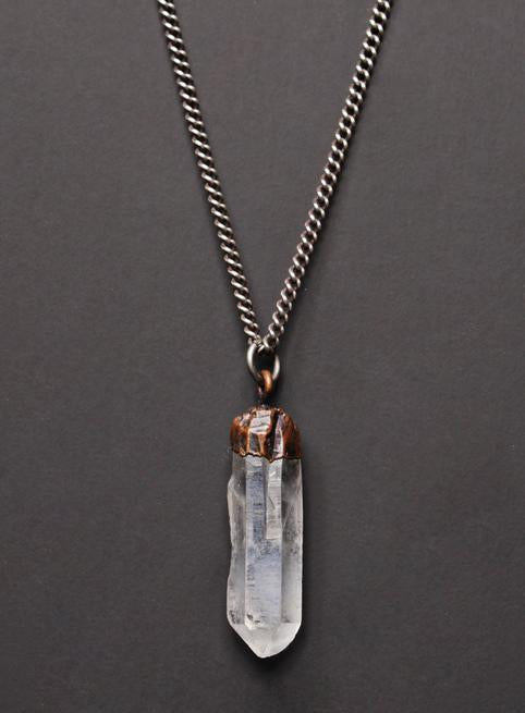 We Are All Smith Quartz + Sterling Silver Necklace-Jewelry-Johnny Beach