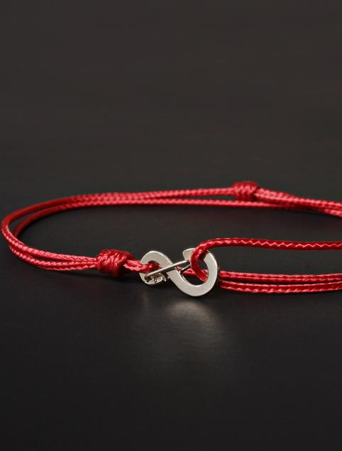 We Are All Smith Infinity Bracelet - Red Cord with Silver Clasp-Jewelry-Johnny Beach