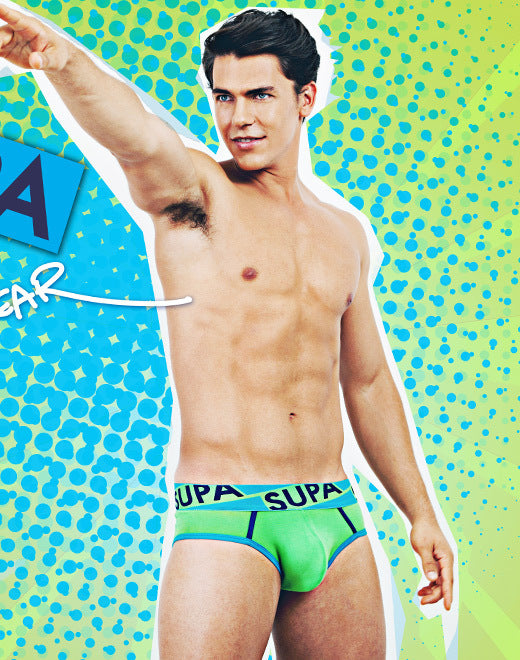 Supawear - Supa Supa Brief - Lime Johnny Beach