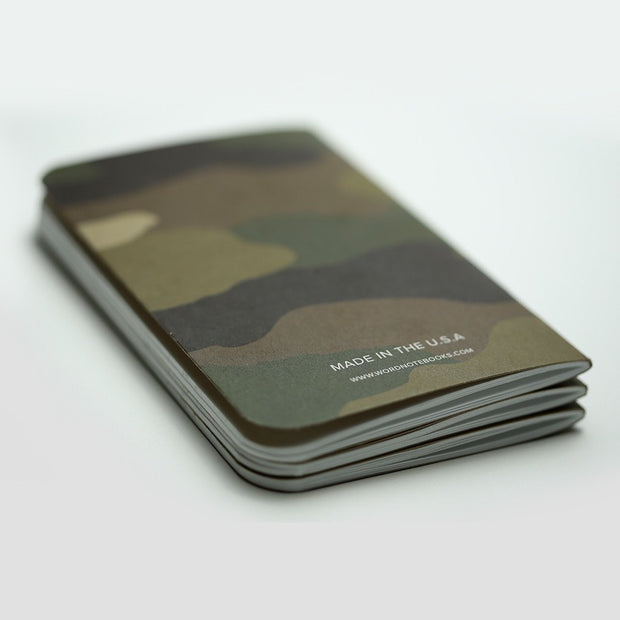 Word. Notebooks - Traditional Camo-notebook-Johnny Beach
