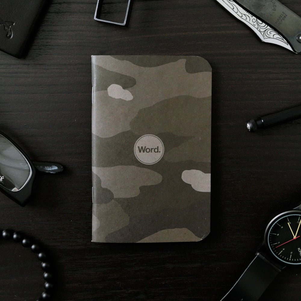 Word. Notebooks - Stealth Camo, notebook, Word. - Johnny Beach