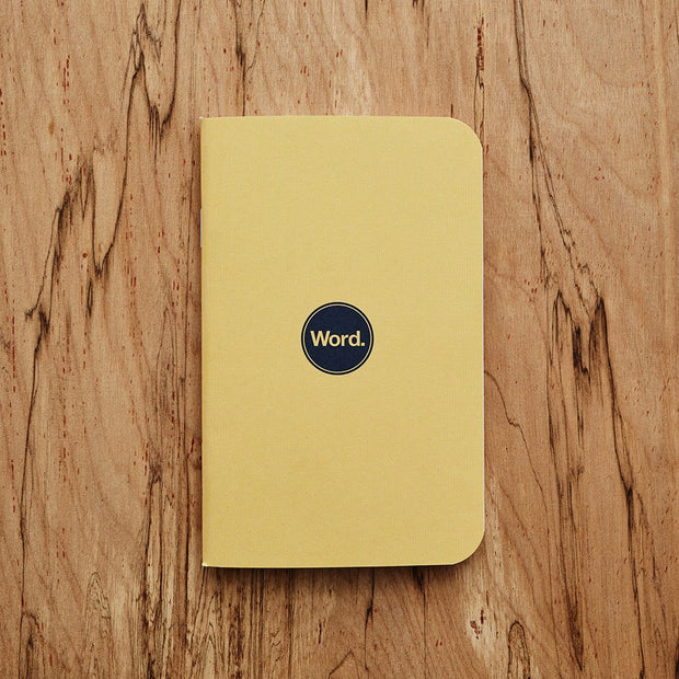 Word. Notebooks - Yellow-notebook-Johnny Beach