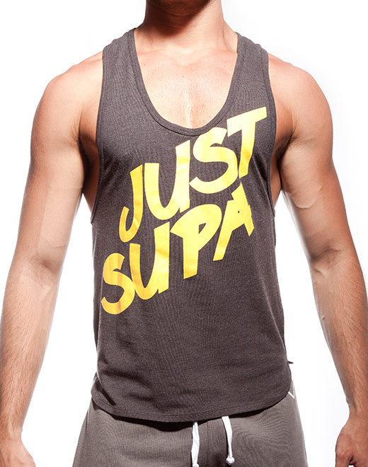 Supawear - Just Supa Singlet - Black Marle Johnny Beach