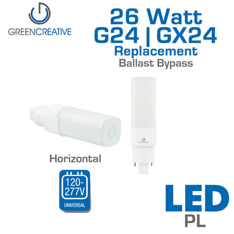 Green Creative Direct PL - 11 Watt - G24d / Gx24d / G24q / GX24q - Horizontal - Ballast Bypass