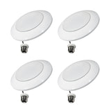 Thinklux Ultra-Thin Disk LED Recessed Downlight Kit - 13 Watt - 85 Watt Equal - Dimmable - 4 Pack