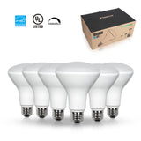 Thinklux BR30 LED Flood Light Bulb - High 90+ CRI - 11W - 65W Equivalent - Shatterproof - Dimmable - 6 Pack