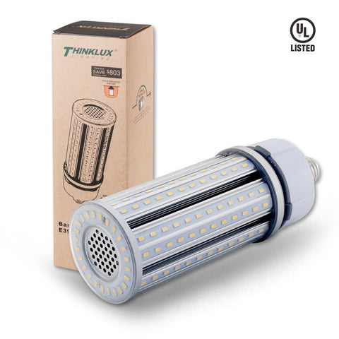 Thinklux LED Corn Cob LED HID HPS Retrofit Bulb - 5000K - 7300 Lumens - Fully Enclosed Rated