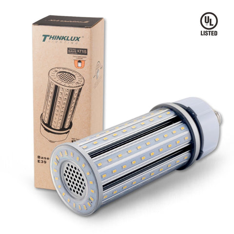 Thinklux LED Corn Cob LED HID HPS Retrofit Bulb - 5000K - 5800 Lumens - Fully Enclosed Rated