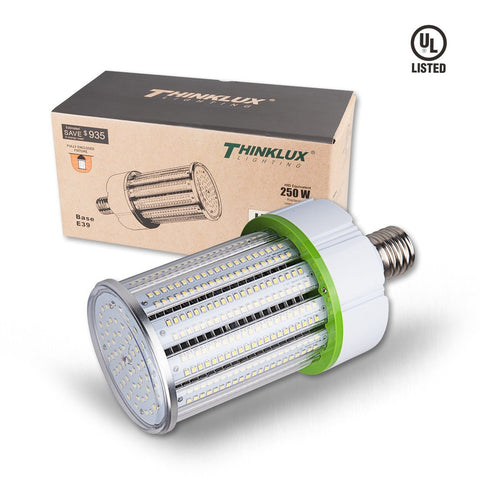 Thinklux LED Corn Cob LED HID HPS Retrofit Bulb - 5000K - 13700 Lumens - Fully Enclosed Rated